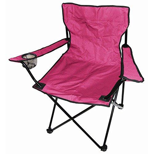 Faltstuhl Pink Rosa Campingstuhl Anglerstuhl Getränkehalter Anglersessel