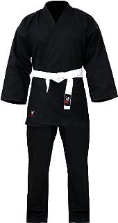 بدلة كاراتيه جي 4 ايكيدو جي ال زي موحد لتدريب البالغين والطلاب باللون الابيض مع حزام اسود مجاني
