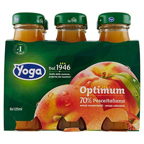 Yoga - Optimum Succo 70% Pesca, 6 x 125 ml - 750 ml