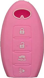 غطاء حماية من السيليكون بدون مفتاح إدخال عن بعد مفتاح Fob من RUNZUIE لهاتف Infiniti EX35 FX50 FX50 G35 G37 M45 QX56 M56 QX...