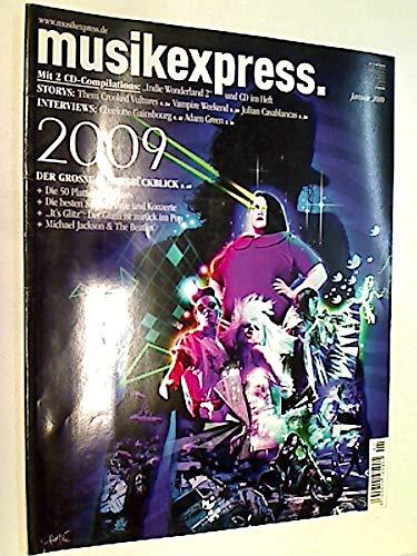 Musikexpress 2010 Heft 1: Storys: Them Crooked Vultures,Vampire Weekend, Julian Casablancas Interviews: Charlotte Gainsbourg, Adam Green, musik express ME sounds