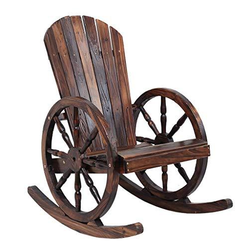 LLDKA schommelstoel schommelstoel houten componenten, voeten rolstoel geschikt voor terras of binnenshuis