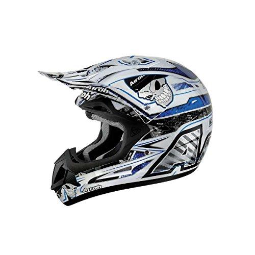 Airoh Motorrad Helm Jumper, Blau (Mister-X Blau), 58 cm