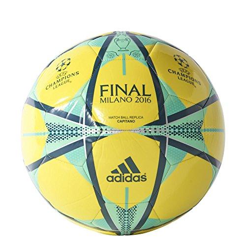 Adidas Pallone Da Calcio Finale Milano Capitano - Shock Giallo/Minerale/Green Si Illumina, 38