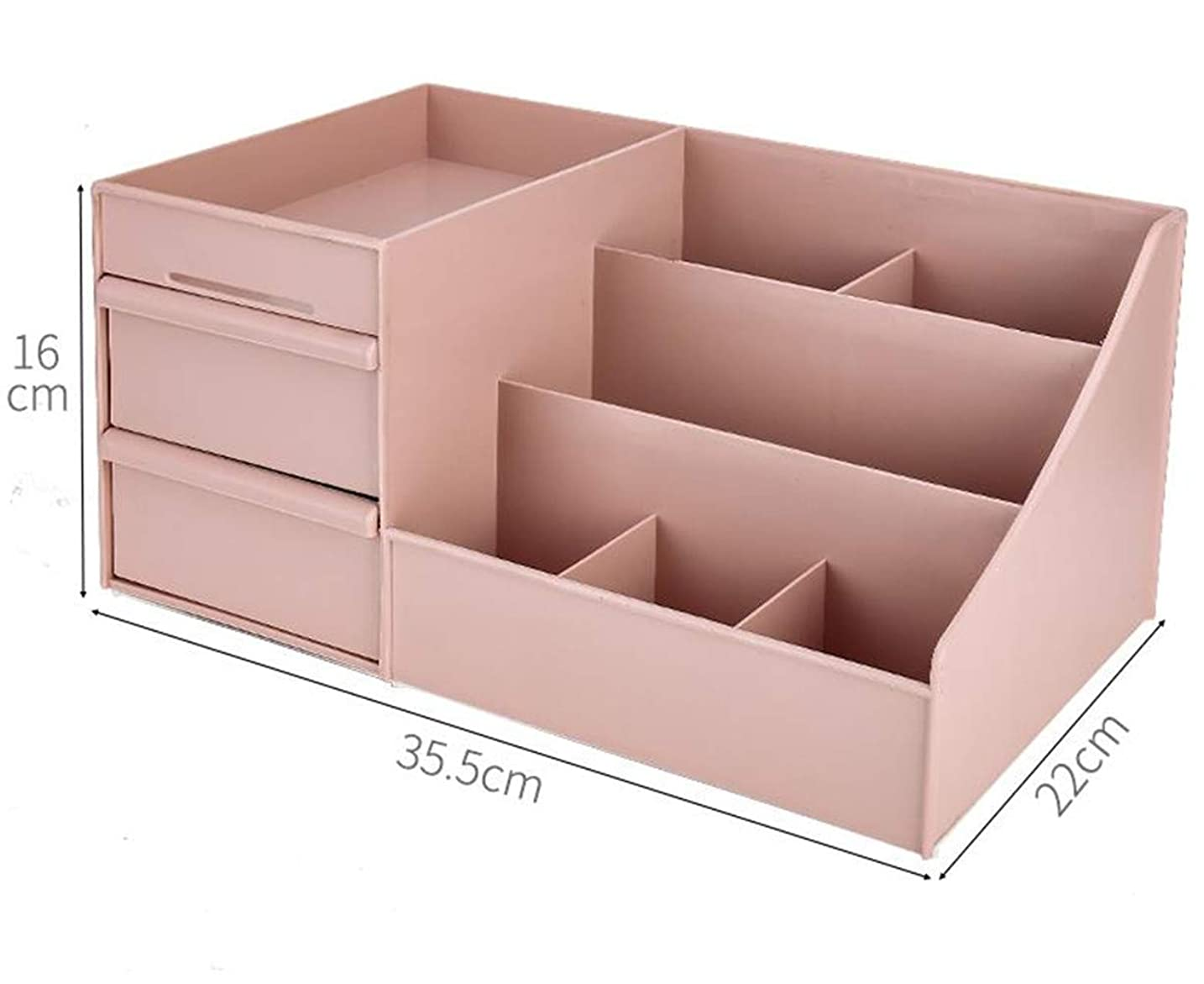 湿地ブラウス先入観[ベィジャン] 化粧品収納ボックス メイクボックス メイクケース コスメボックス 小物入れ 化粧品入れ 卓上収納 シンプル コスメ収納 大容量 アクセサリーボックス おしゃれ ピンク