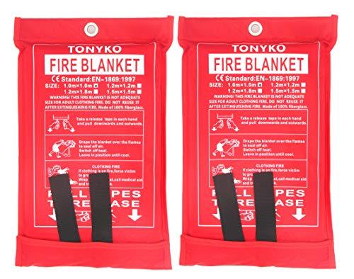 Tonyko Fiberglas-Feuerdecke für Notfälle, schwer entflammbarer Schutz und Wärmedämmung mit verschiedenen Größen (47,2 × 47,5 cm)