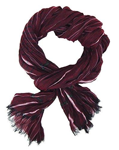 Ella Jonte Écharpes foulard d'homme élégant et tendance de la dernière collection by Casual-style rouge burgund gris