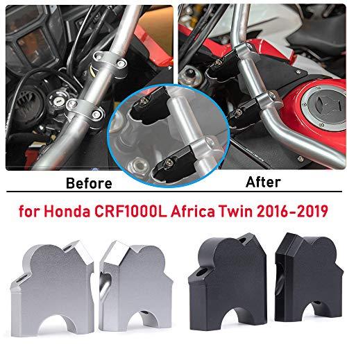 Lorababer Motorrad CNC Aluminium Lenker Riser 28mm Lenker LenkerKlemmenkonus für H-o-n-d-a CRF1000L CRF 1000L CRF 1000 L 2016 2017 2018 2019 Africa Twin Zubehör (Schwarz)