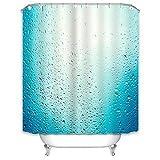 X-Labor Regen Duschvorhang 240x200cm Wasserabweisend Stoff Anti-Schimmel inkl. 12 Duschvorhangringe Waschbar Badewannevorhang 240x200cm Muster-A