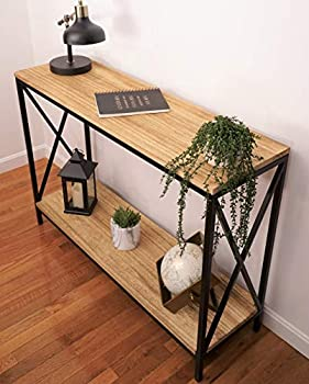 Premium Home Farmhouse Console Table – Sofa Table Behind Couch Table Entry way Table Decor Rustic Wood Console Table Foyer tables for entryway Modern Decorative Wood Furniture Narrow Long Hallway
