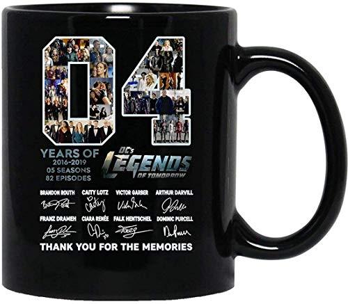 N\A 4 Years of #DC 's #Legends of Tomorrow 2016-2019 Tasse 5 Saisons 82 épisodes avec poignée, Tasse à café réutilisable en céramique isolée, Tasse de Voyage à café