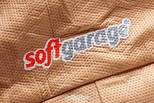 SOFTGARAGE 5-lagig beige Slim fit Premium Indoor Outdoor atmungsaktiv wasserabweisend Car Cover Vollgarage Ganzgarage Autoplane Autoabdeckung 911040-0583H29