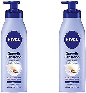 Nivea Smooth Sensation Body Lotion, Shea Butter & Hydra IQ 16.9 Oz. (2 Pack)