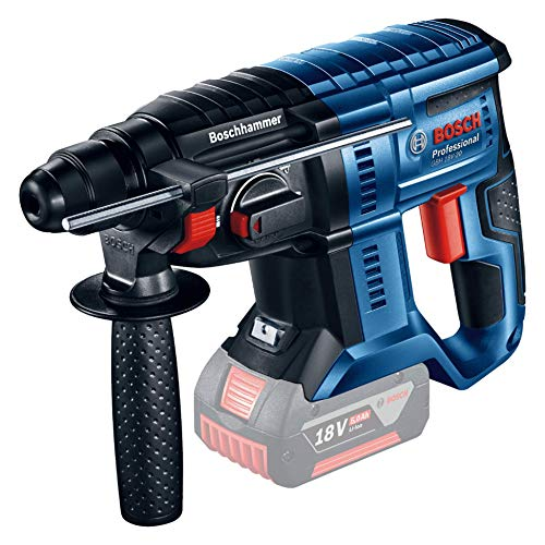 Bosch Professional GBH 18 V - 20 Cordless Rotary Hammer (Battery Not Included, 18 V, Maximum Drilling Diameter in Concrete: 20 mm, Cardboard Box)