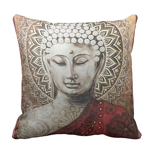 Emvency Throw Pillow Cover Buddha Love Decorative Pillow Case Home Decor Square 20 x 20 Inch Cushion Pillowcase