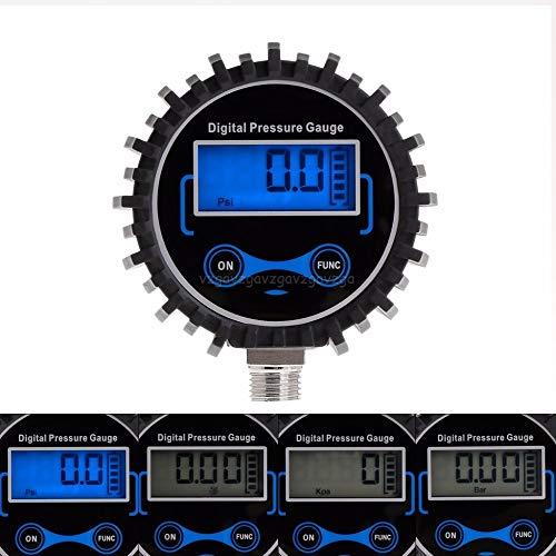 TANGIST Digital Neumático Medidor de presión Camión automovilístico Auto Motocicleta Aire Aire PSI METER MONITOR DE PRESIÓN 0-230PSI 1/4'NPT O17 Dropship