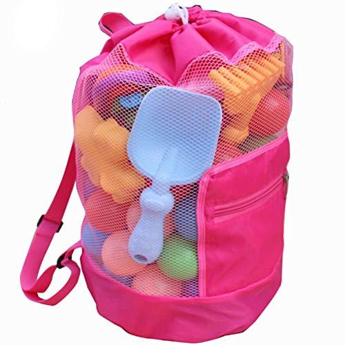 Spier Bolsa de malla para juguetes de playa, juguetes de agua, bolsa de playa, juguetes de arena, juguetes de agua, correa de hombro, para niños pequeños, niñas, bolsa de baño