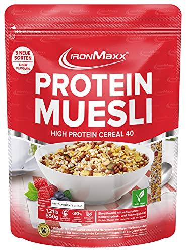 Ironmaxx Protein Muesli 550 g, Chocolat Blanc Vanille
