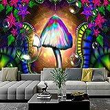 Tapiz de Mandala indio de hongos morados, montaje en pared, manta de tapiz de brujería tapiz psicodélico bohemio A4 73x95cm