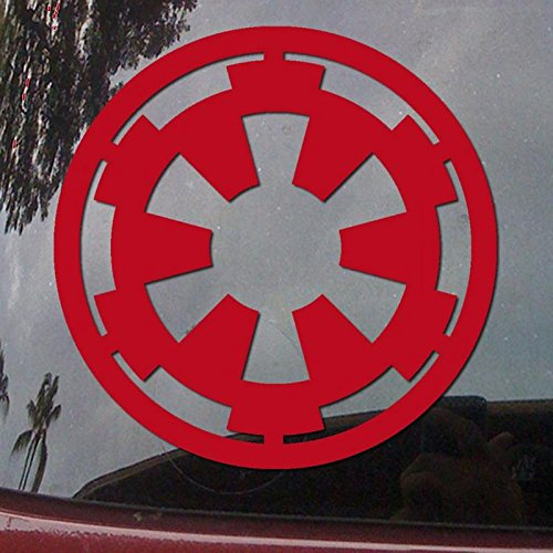 CCI Star Wars Galactic Empire Decal Vinyl Sticker|Cars Trucks Vans Walls Laptop| RED |4 x 4 in|CCI1537