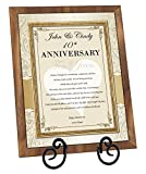 Personalized Anniversary Gift Love Poem Walnut Plaque with Easel Present For Husband Wife Boyfriend Girlfriend (Regular 8x10)
