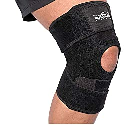 powerful EXOUS Knee Support – Non-slip 4-position knee support with entire patella and side stabilizers for the knee…