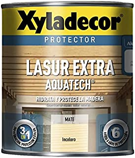BRUGUER XYLADECOR LASUR Extra Mate AQUATECH INCOLORO 750 ML Negro