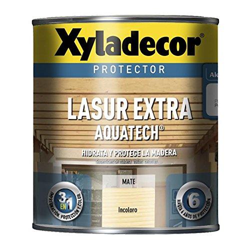 BRUGUER XYLADECOR LASUR Extra Mate AQUATECH INCOLORO 750 ML, Negro
