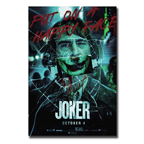 Frameloos Film Joker Movie Zet op een blij gezicht poster zijde Art muur canvas schilderij in print decoratie foto's <> 40x60cm