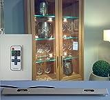 LED de cristal bordes Vitrinas iluminación con mando a distancia y regulador de...