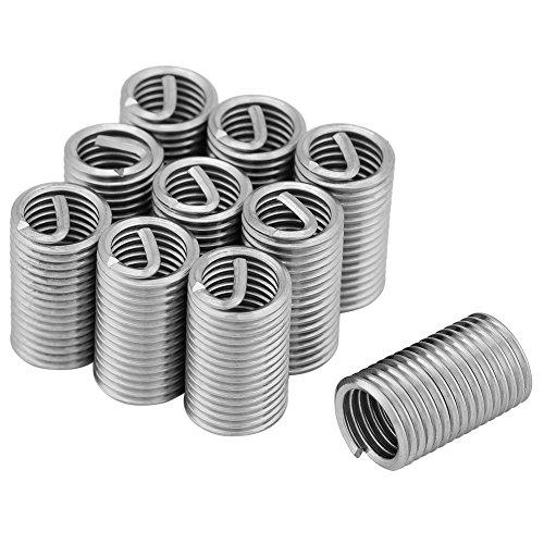 Drahtgewindeeinsatz, 10 Stück 304 Edelstahldrahtschraubenhülseneinsätze Gewindereparatursatz M8x1.25x3D Tragbar und flexibel