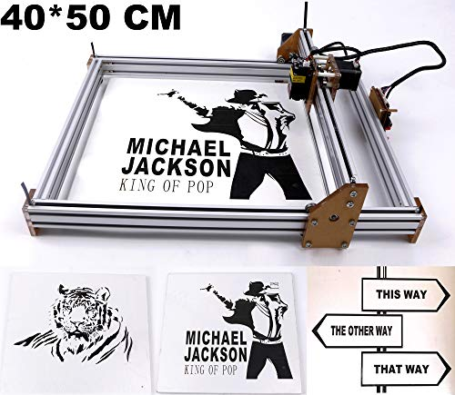 Laser Engraver, Laser Engraving Machine Laser Engraver Machine DIY Logo Laser Engraver Printer DIY CNC 500mW 40X50CM Wood Carving Engraving Machine