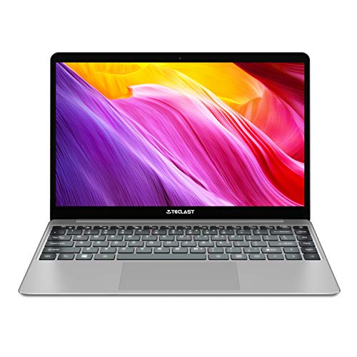 Teclast F7 Plus Laptop 14 Pulgadas RAM 8 GB DDR4, 256 GB SSD UUltrabook, Windows10 Intel N4100 Notebook Quad Core, Pantalla IPS FHD, Dual WiFi HDMI BT 4.0, Carcasa de Metal, Plata
