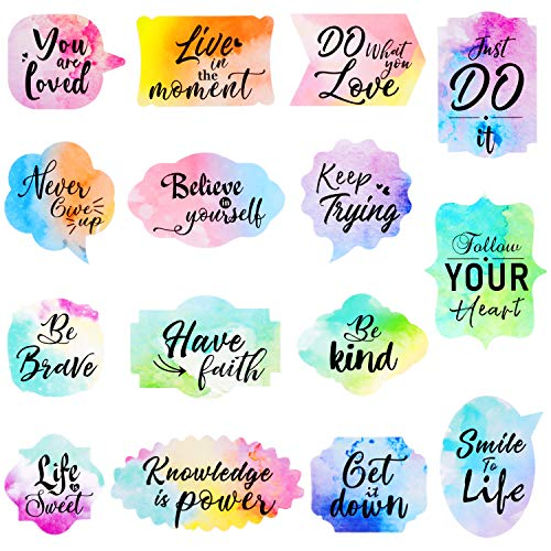 480 Pieces Motivational Stickers Inspiring Planner Stickers Inspirational Quotes Stickers Encouragement Decals Stickers for Laptop Book Phone Car Luggage Bike