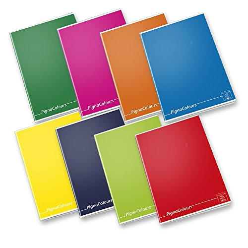Pigna Colours 02136420A, Quaderno formato A4, Rigatura 0A, righe per 1° e 2° elementare, Carta 80g/mq, Pacco da 10 Pezzi