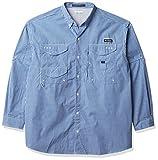 Columbia Super Bonehead - Camisa de Pesca de Manga Larga para Hombre, Hombre, 1276391, Guinga Azul vívido, XX-Large