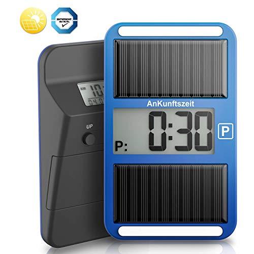 VINGO Parkscheibe Digitale Parkuhr Solarparkuhr für Auto & Motorrad mit Zulassung für ganz Deutschland, mit Batterie und Montage Zubehör