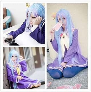 Weeck Anime Long Multicolor No Game No Life Shiro Girls Cosplay Wig