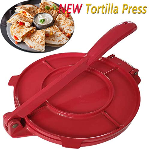 ChenLee 8 Inch Tortilla Press Aluminum Alloy Tortilla Maker with Foldable Handle Coated Heavy Duty Non-Stick Tortilla Pie Maker Press Pan Easy to Use Flour Corn Pizza Omelette Press for Commercial Restaurant and Home Kitchen