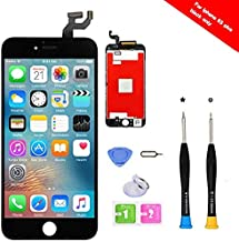 Premium Screen Replacement Compatible with iPhone 6S Plus Full Assembly -LCD Touch Digitizer Display Glass Assembly with Tools, Fit Compatible with iPhone 6S Plus (Black)