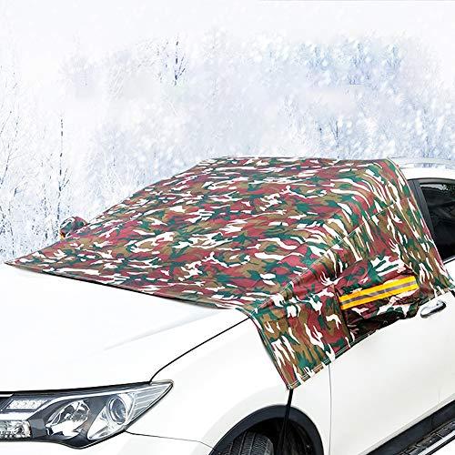 Autoscheibenabdeckung Winter Frontscheibenabdeckung Auto Scheibenabdeckung Windschutzscheibe Frostschutzfolie Frontscheibe Frostabdeckung Scheibenfrostschutz gegen Schnee EIS Frost Groß,SUVJungle