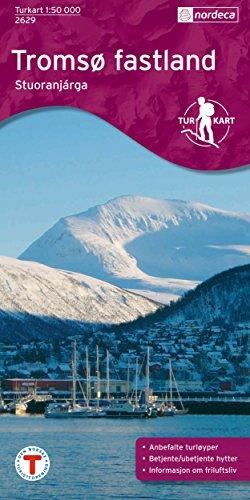 Norwegen topographische Wanderkarte Tromsø Fastland / Tromso Festland: Tromsø, Tromsdalen, Olderskogen, Kroken,...