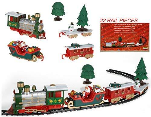 Viscio Trading 172492 Trenino di Natale, Multicolore, 90x42x1 cm
