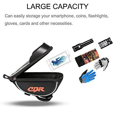Furado Rahmentaschen, Fahrradtaschen Fahrrad Rahmentaschen für Smartphone bis zu 6 Zoll, Wasserabweisende Fahrrad Handyhalterung für alle Fahrradtypen, Fahrradtasche Rahmentaschen - 3