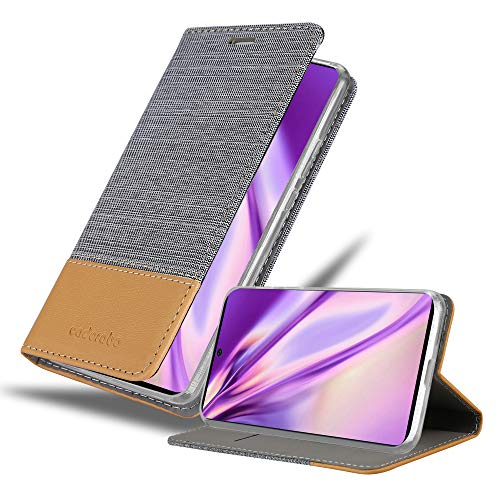 Cadorabo Funda Libro para Samsung Galaxy A71 5G en Gris Claro MARRÓN - Cubierta Proteccíon con Cierre Magnético, Tarjetero y Función de Suporte - Etui Case Cover Carcasa