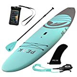 Peak Expedition Inflatable Stand Up Paddle Board — Durable Lightweight Touring SUP with Stable Wide Stance — 10'6' or 11' Long x 32' Wide x 6' Thick