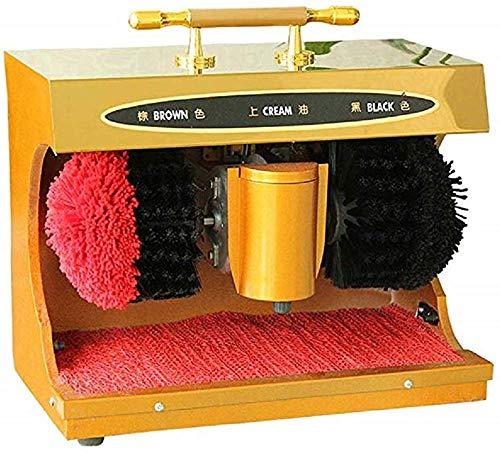 GJNVBDZSF El Enchufe eléctrico Calza la máquina del Lustre y del Brillo con la máquina automática del Esmalte del Zapato de 2 cepillos
