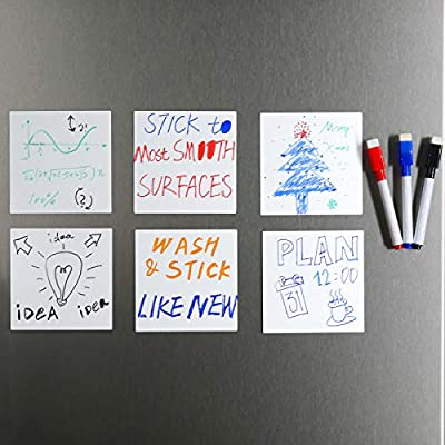 Amazon - 50% Off on  Dry Erase Sticky Notes Reusable Small Whiteboard Sticker 4×4 Inches 6 Pack