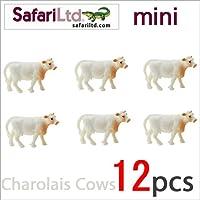サファリ社ミニフィギュア 350422 シャロレー牛 12個セット