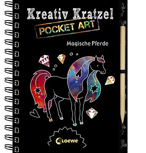 Kreativ-Kratzel Pocket Art: Magische Pferde: Malen und Kratzeln, die ideale Beschäftigung im Pocket-Format für Kinder ab 5 Jahre (Kreativ-Kratzelbuch)
